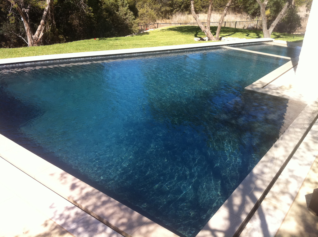 New construction pools photo gallery paradise pool for Pool plaster